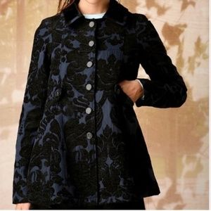 Free People Jacquard Newsroom Tapestry Coat